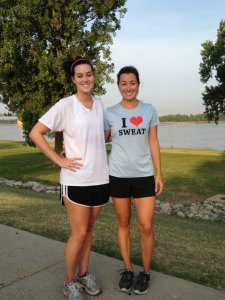 River Workout with Hannah in Memphis.. shirt from iheartsweatapparel.com